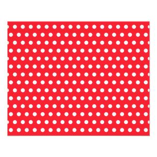 Red and White Polka Dot Pattern. Spotty. 11.5 Cm X 14 Cm Flyer