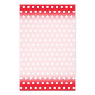 Red and White Polka Dot Pattern. Spotty. 14 Cm X 21.5 Cm Flyer