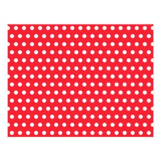 Red and White Polka Dot Pattern. Spotty. 21.5 Cm X 28 Cm Flyer
