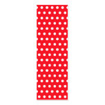 Red and White Polka Dot Pattern. Spotty. Business Card Templates