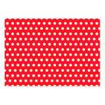 Red and White Polka Dot Pattern. Spotty. Business Cards