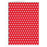 Red and White Polka Dot Pattern. Spotty. Greeting Cards