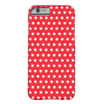 Red and White Polka Dot Pattern. Spotty. iPhone 6 Case