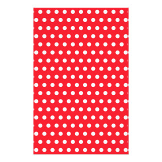 Red and White Polka Dot Pattern. Spotty. Flyers