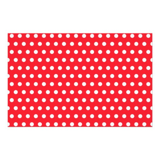 Red and White Polka Dot Pattern. Spotty. Flyer Design