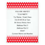 Red and White Polka Dot Pattern. Spotty. Announcement