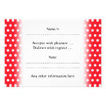 Red and White Polka Dot Pattern. Spotty. Personalized Invites
