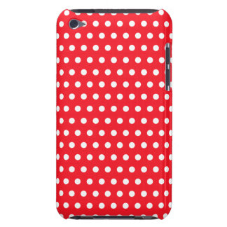 Red and White Polka Dot Pattern. Spotty. iPod Touch Case