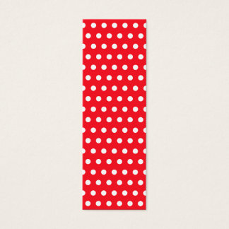 Red and White Polka Dot Pattern. Spotty. Mini Business Card