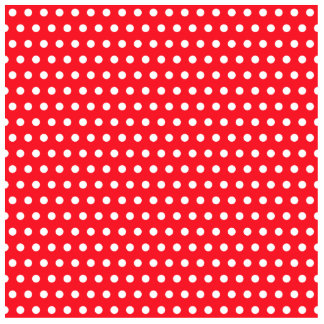 Red and White Polka Dot Pattern Spotty Photo Sculptures