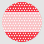 Red and White Polka Dot Pattern. Spotty. Sticker