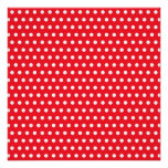 Red and White Polka Dot Pattern. Spotty. Perfect Poster