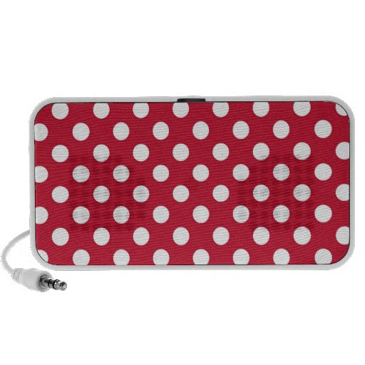 Red and White Polka Dot Notebook Speakers