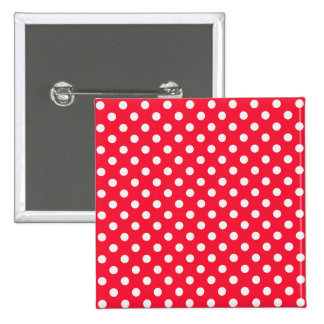 Red and White Polka Dots 15 Cm Square Badge