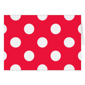Red and white polka dots card