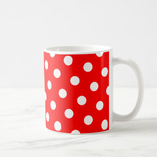 Red and White Polka Dots Coffee Mug