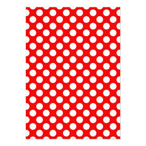 Red and White Polka Dots Personalized Invite