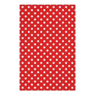 Red and White Polka Dots Pattern 14 Cm X 21.5 Cm Flyer
