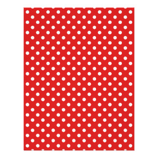 Red and White Polka Dots Pattern 21.5 Cm X 28 Cm Flyer