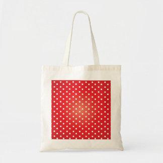Red and White Polkadot Heaven Budget Tote Bag