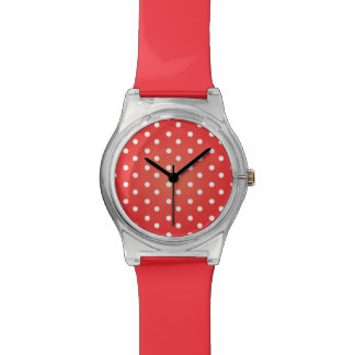 Red and White Polkadot Wrist Watches
