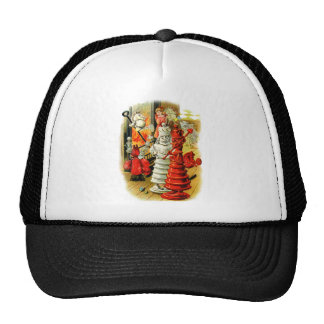 RED AND WHITE QUEEN IN WONDERLAND TRUCKER HATS
