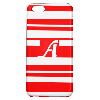 Red and White Random Stripes Monogram Cover For iPhone 5C