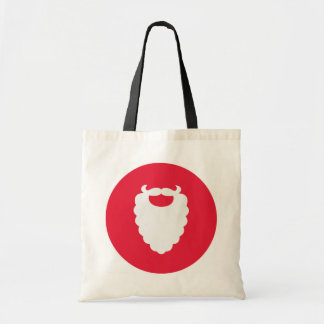 Red and White Santa Beard Modern Holiday Tote Bag