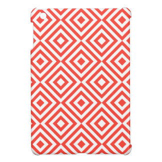 Red and white square pattern case for the iPad mini