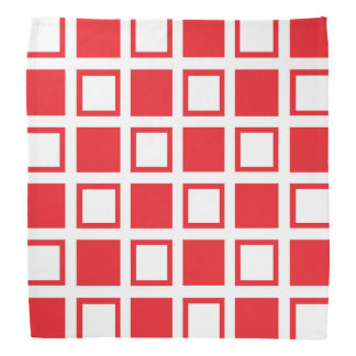 Red and White Squares Bandana