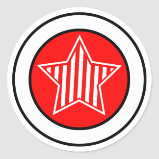 Red and White Star Sticker