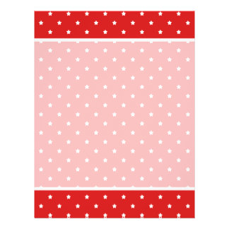 Red and white stars pattern. 21.5 cm x 28 cm flyer