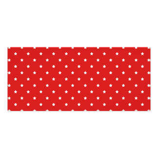 Red and white stars pattern. rack card design