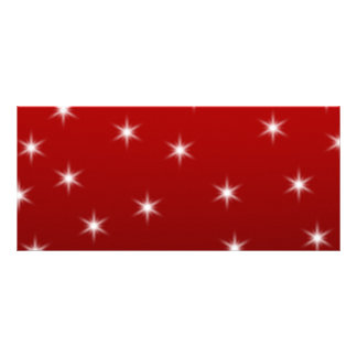 Red and White Stars Pattern Customized Rack Card
