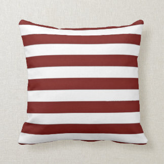 Red and White Stripe Cushion
