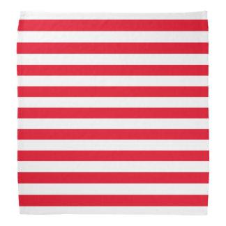 Red and White Stripe Pattern Bandana