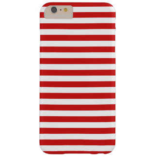 Red and White Stripe Pattern Barely There iPhone 6 Plus Case