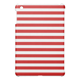 Red and White Stripe Pattern Case For The iPad Mini