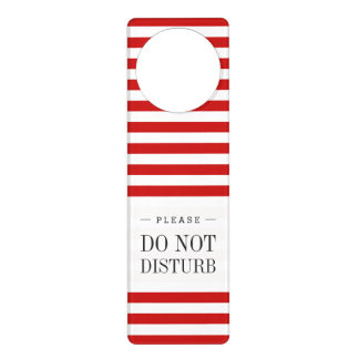 Red and White Stripe Pattern Door Hanger