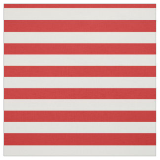 Red and White Stripe Pattern Fabric