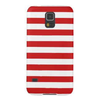 Red and White Stripe Pattern Galaxy S5 Case