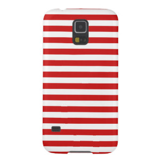 Red and White Stripe Pattern Galaxy S5 Cover