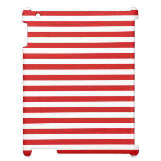 Red and White Stripe Pattern iPad Case