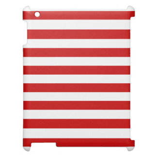 Red and White Stripe Pattern iPad Cases