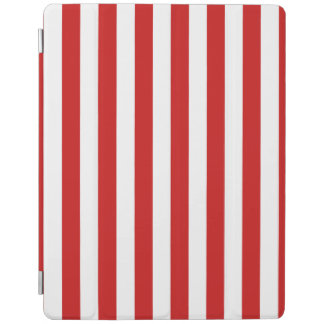 Red and White Stripe Pattern iPad Cover