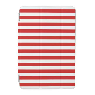 Red and White Stripe Pattern iPad Mini Cover