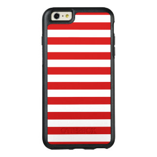 Red and White Stripe Pattern OtterBox iPhone 6/6s Plus Case