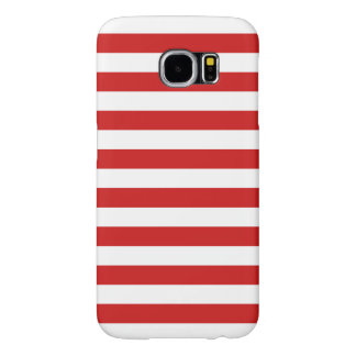 Red and White Stripe Pattern Samsung Galaxy S6 Cases