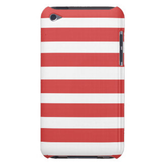 Red and White Stripe Phone Case Case-Mate iPod Touch Case