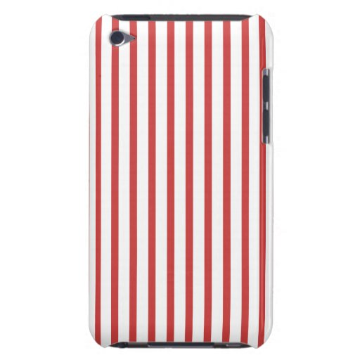 Red and White Stripes Barely There iPod Cover